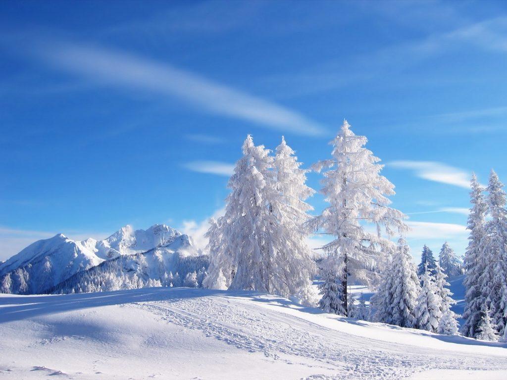Fondos de paisaje nevado