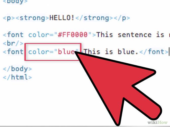 Cómo cambiar el color de la letra en HTML