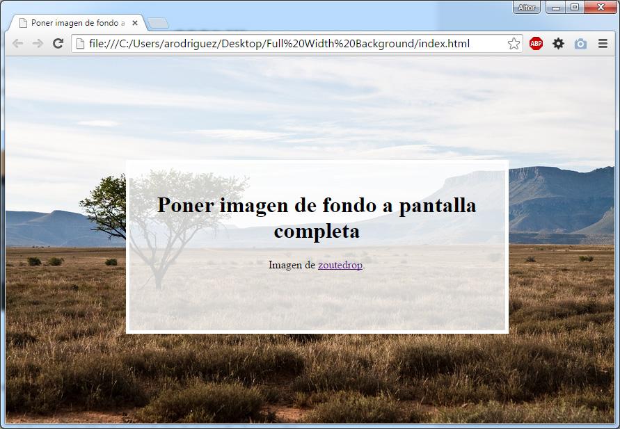 Cómo poner una imagen de fondo en CSS3