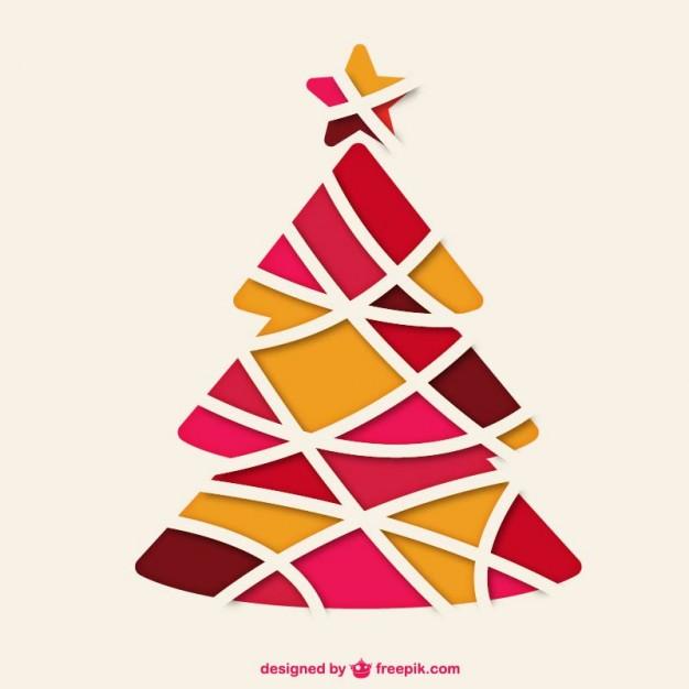 arbol de navidad vector silueta