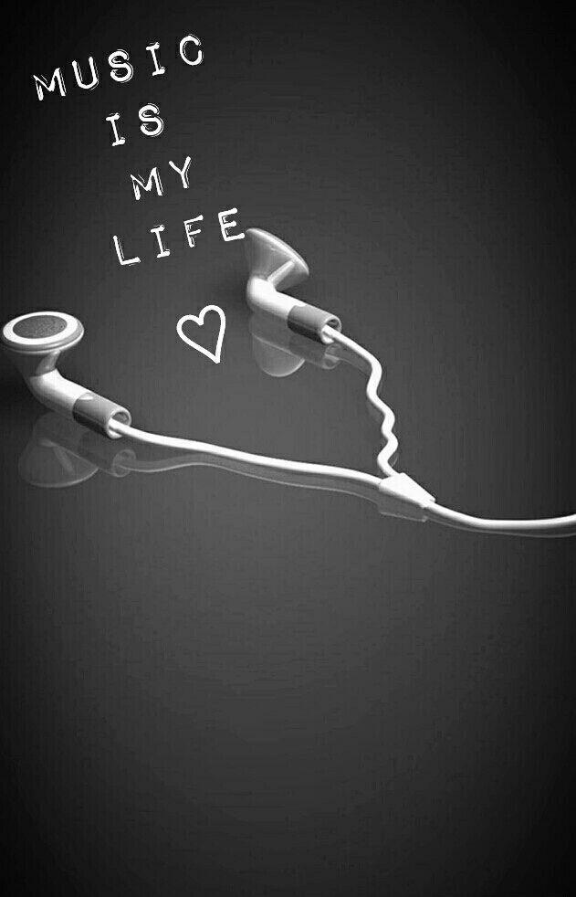 audífonos la música es mi vida