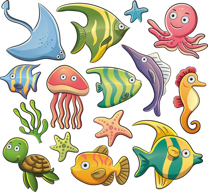 Imagen de peces para imprimir
