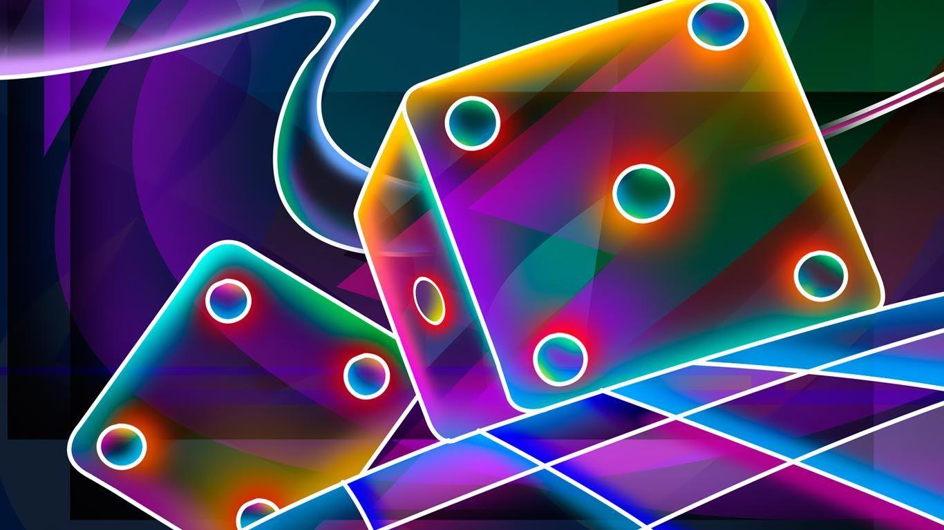 Dados de colores para Fondo de pantalla