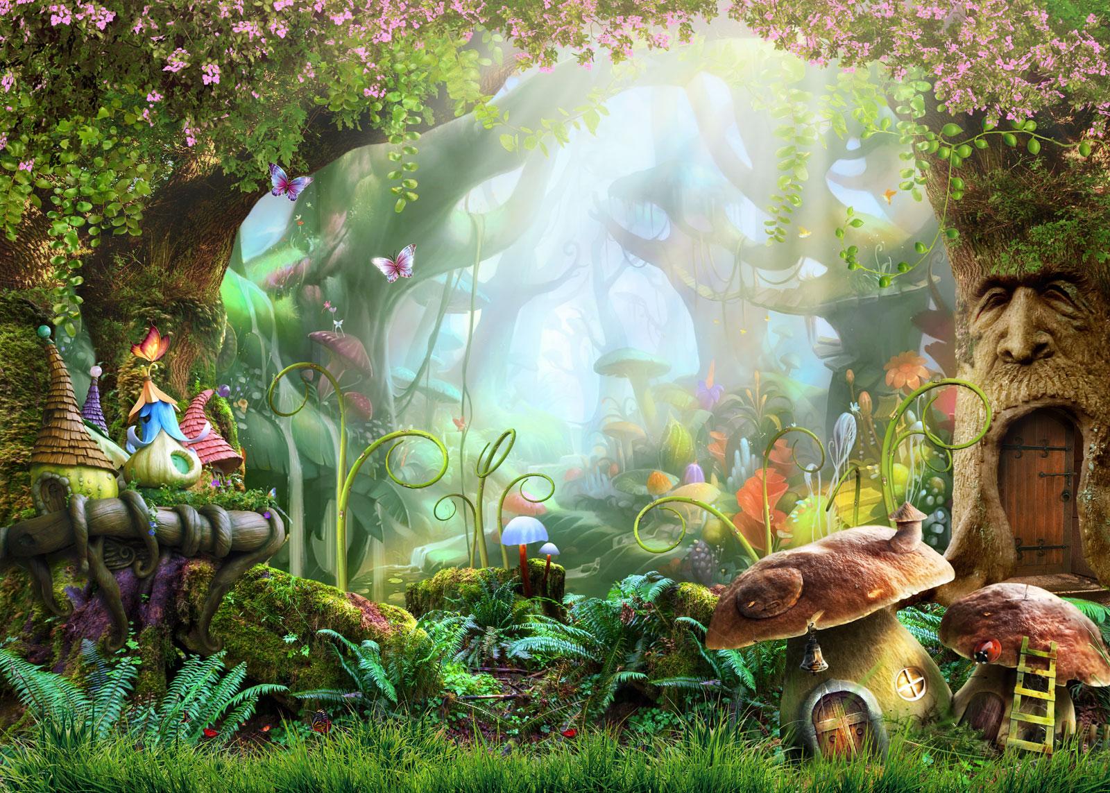 Imagen de un bosque infantil