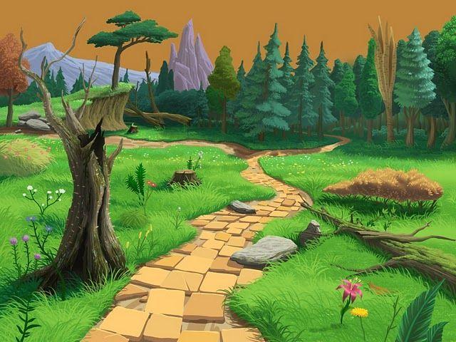 Imagen de un bosque a lo lejos