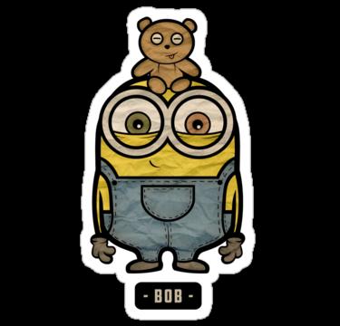 Minions con un oso arriba