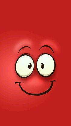 Fondo de cara roja feliz