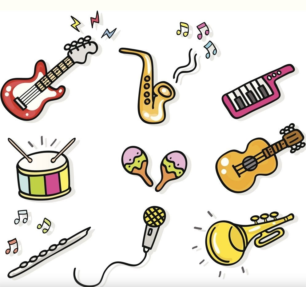 Fondo de dibujos musicales para imprimir