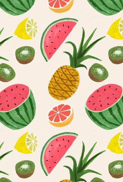 fondos de pantalla de frutas kawaii