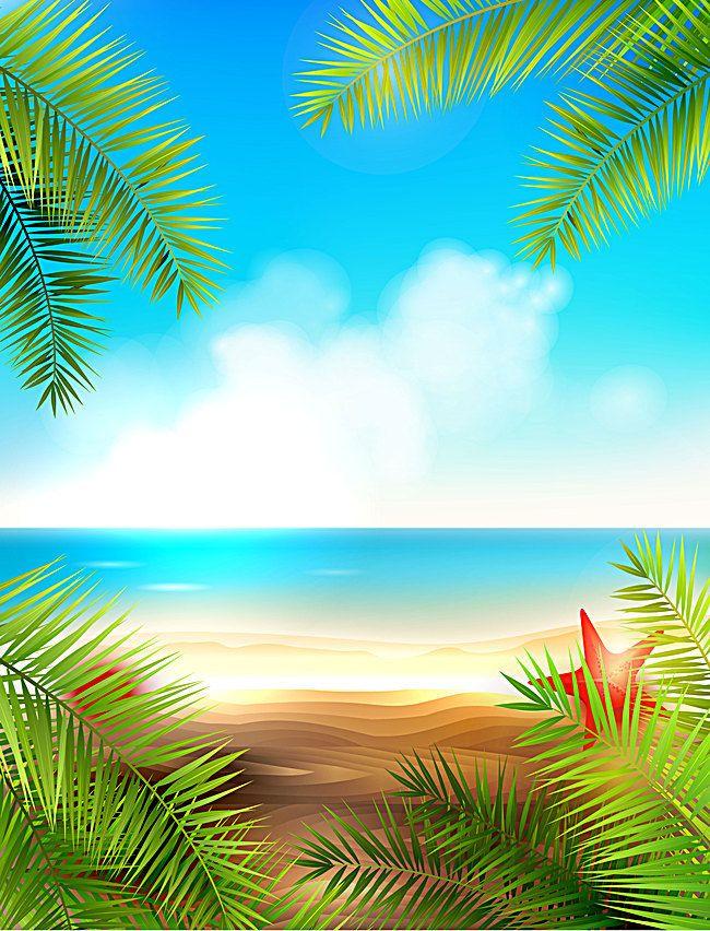 Paisaje del mar en verano