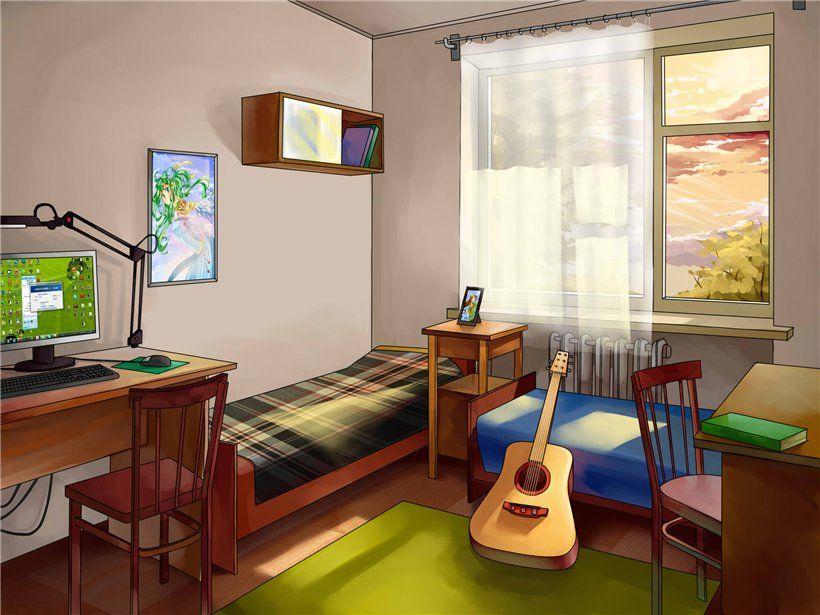 Fondo de pantalla Habitacion colorida anime
