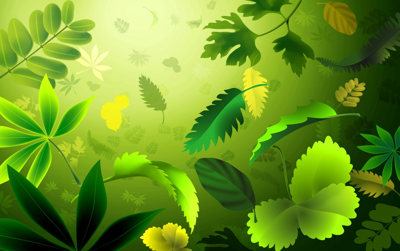 Wallpaper hojas verdes