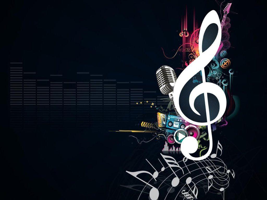 Fondo de pantalla nota musical mas instrumentos