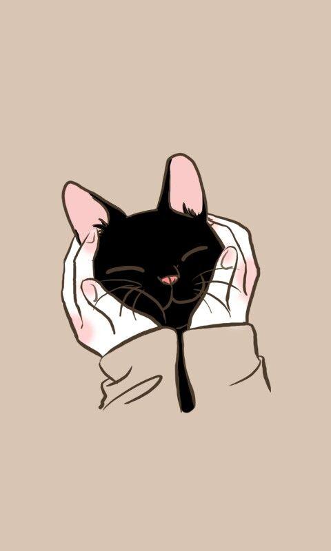 Fondo de pantalla gato negro