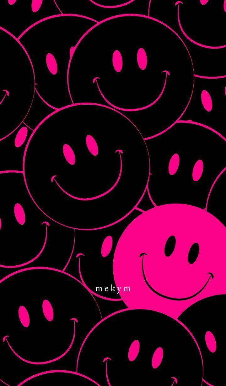 Fondo de emojis rosados