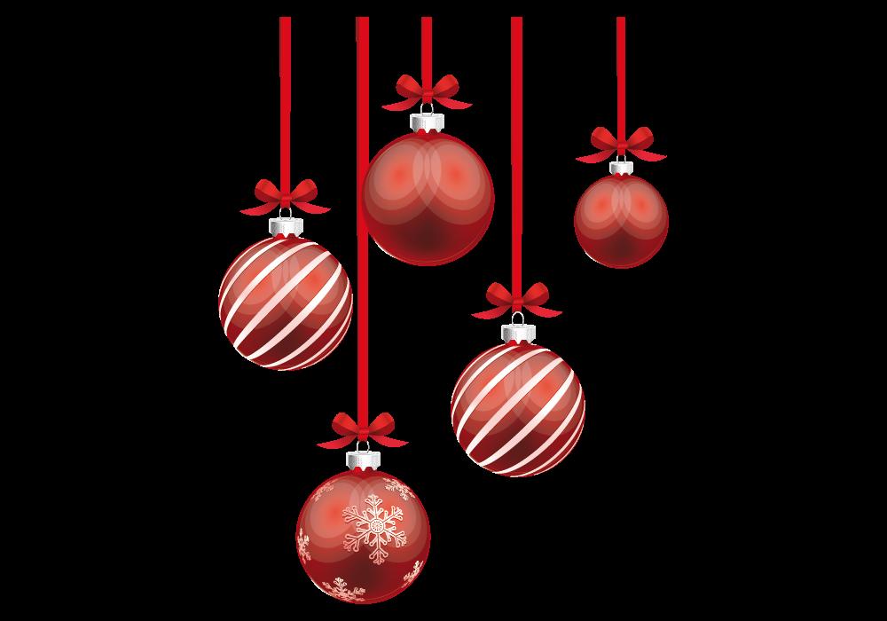 bolas de navidad doradas png