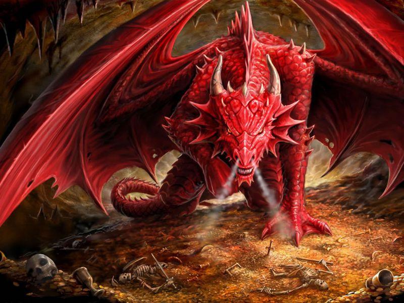 Wallpaper Dragon Rojo