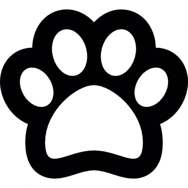 dibujos de huellas de perro para imprimir