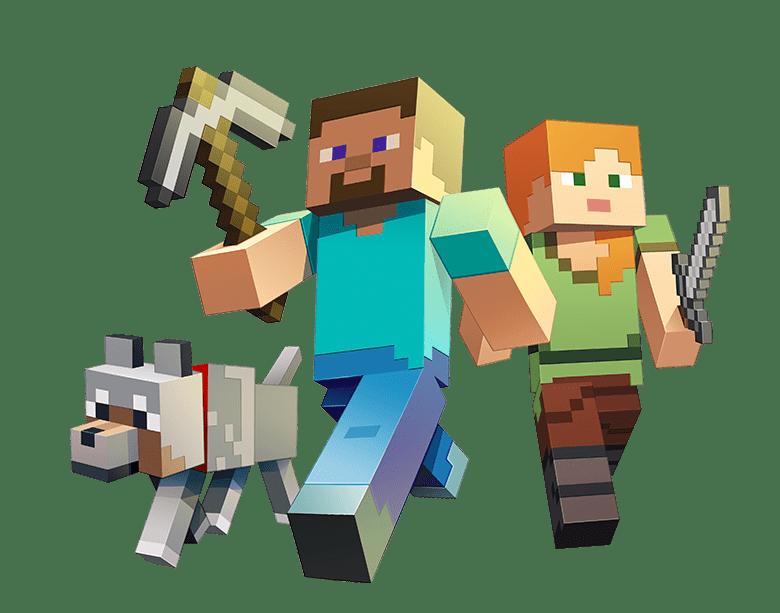 imagenes de minecraft personajes para armar steve