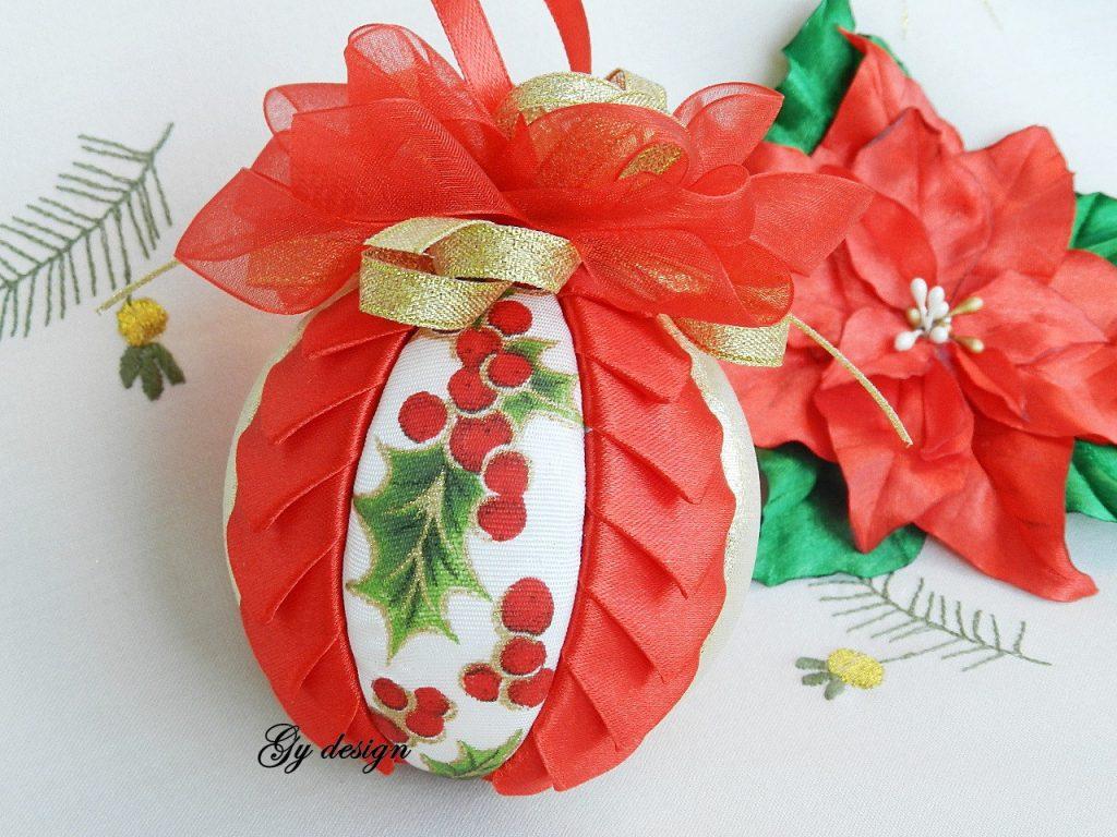 bolas de navidad de patchwork paso a paso