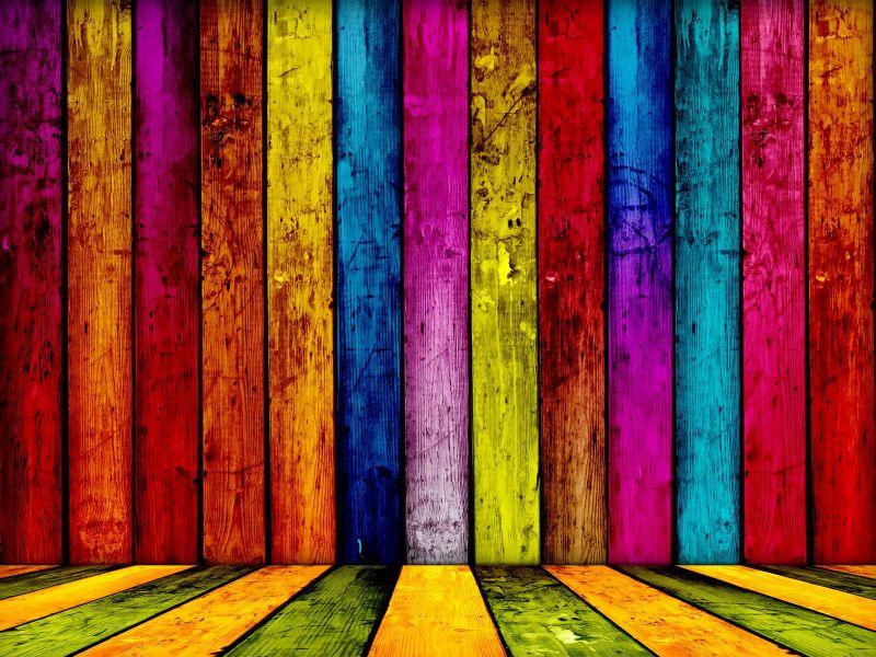 Fondo de pantall colores en madera