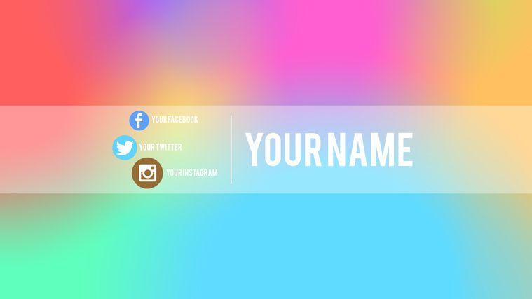 como hacer un banner para youtube 2018