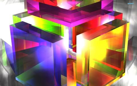 Fondo en 3D cubos