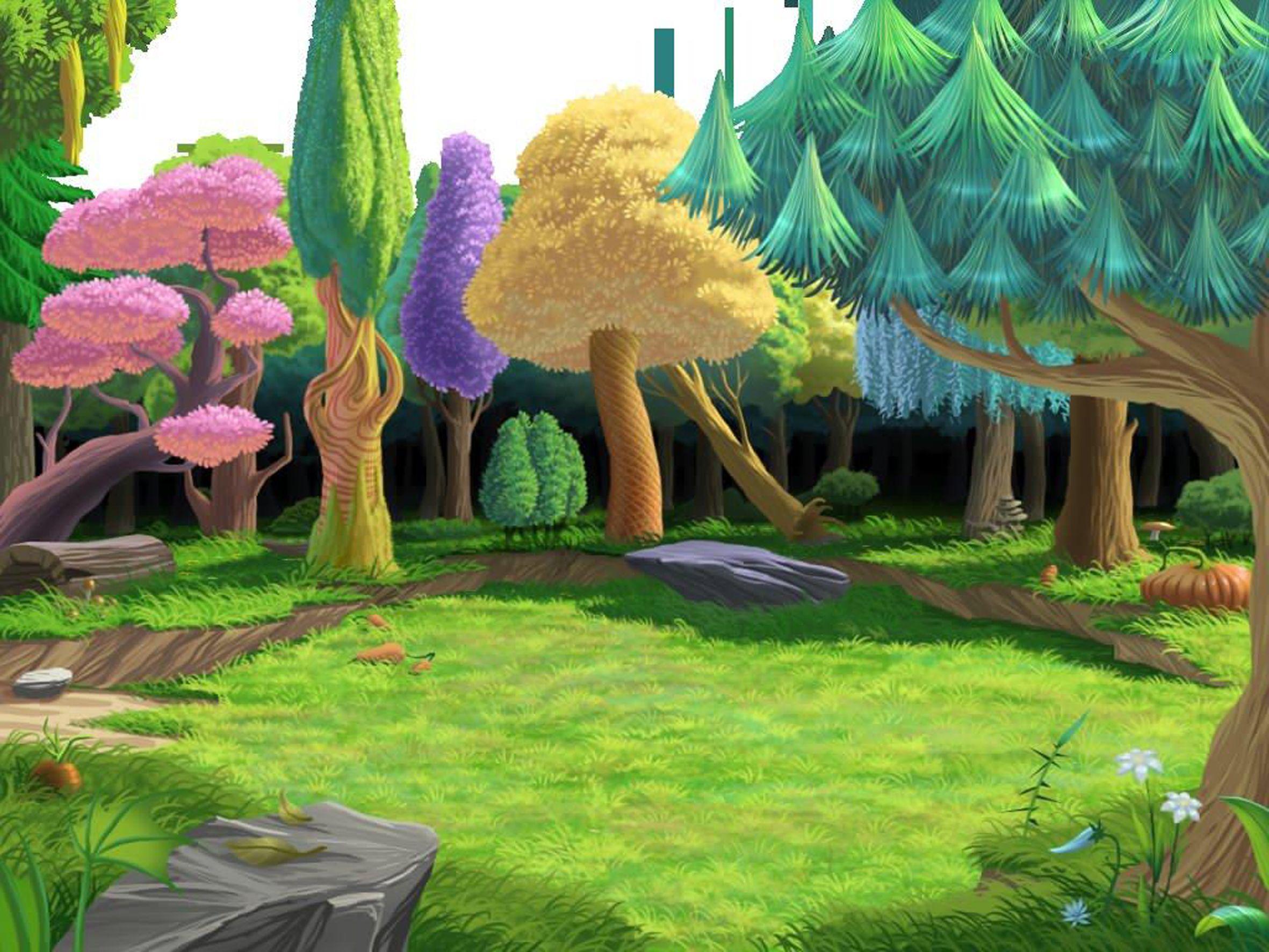 Dibujo de un bosque animado