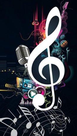 Fondo para celular nota y musica