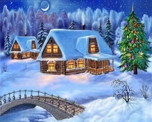 doma-elki-novyj_god_new_year-prazdniki-risunki-rozhdestvo_christmas_xmas-sneg-zima-21880