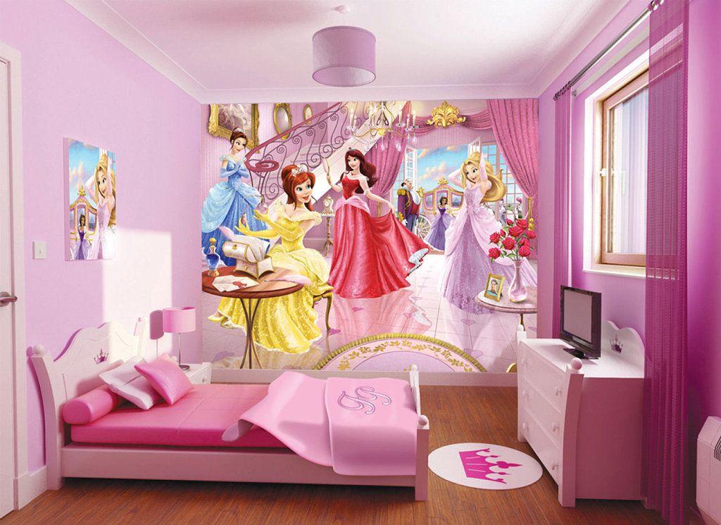 Cuarto de niña con el toque de las princesas