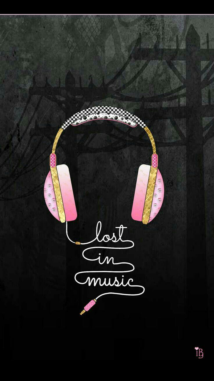 Audifonos rosa con musica todo es mejor