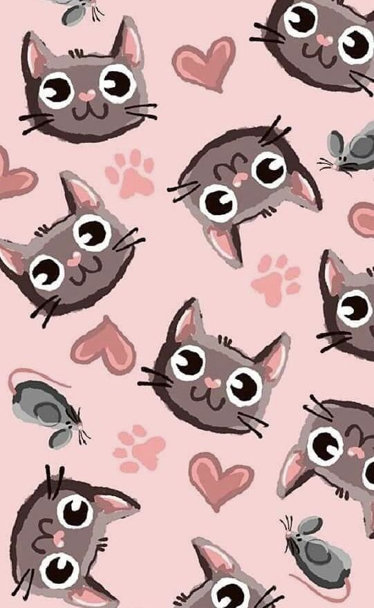 Wallpaper de gatos love