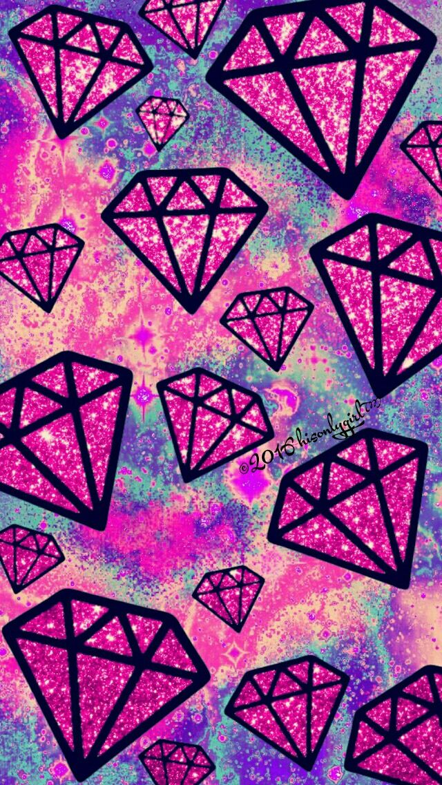 Wallpaper Diamante rosa