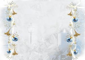 fondo navidad azul