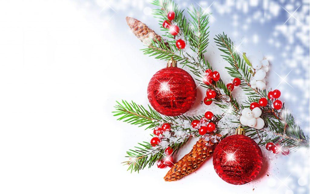 fondo rojo navideño hd