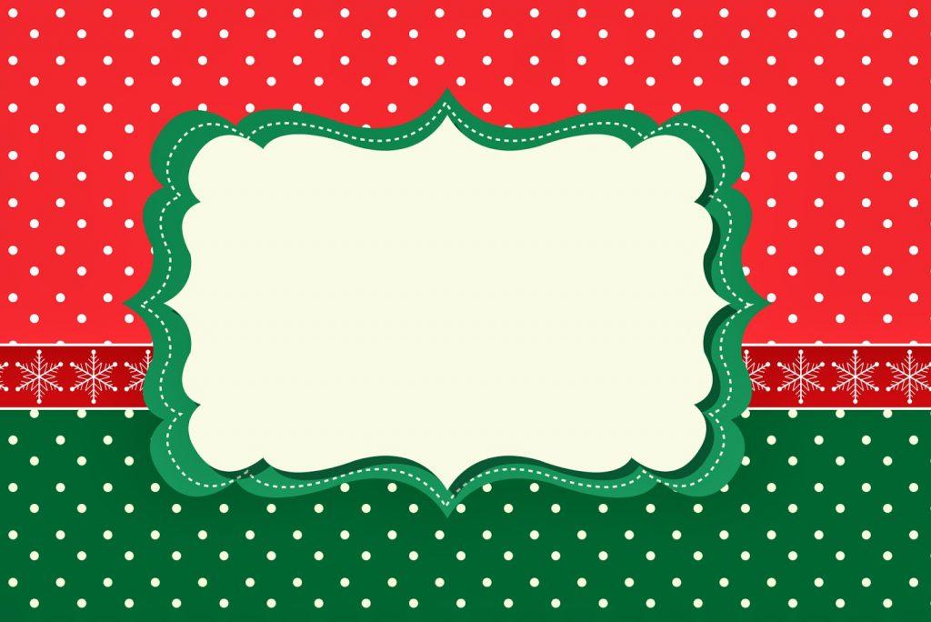 marcos navideños para invitaciones