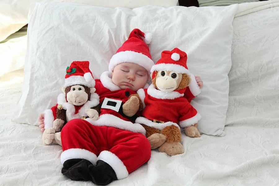 fondos navideños para fotos de bebes