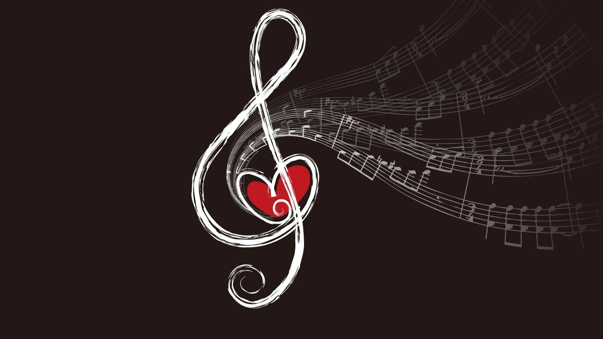 Wallpaper música y corazón