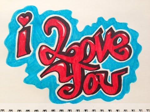 Grafitti Wallpaper love