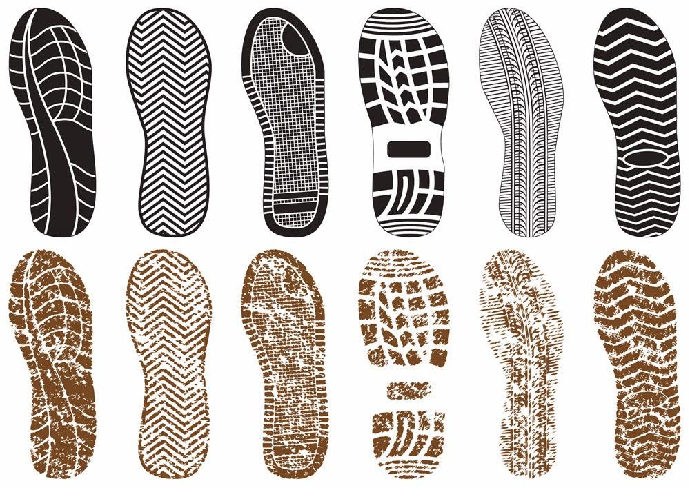 huellas de zapatos vectorizadas