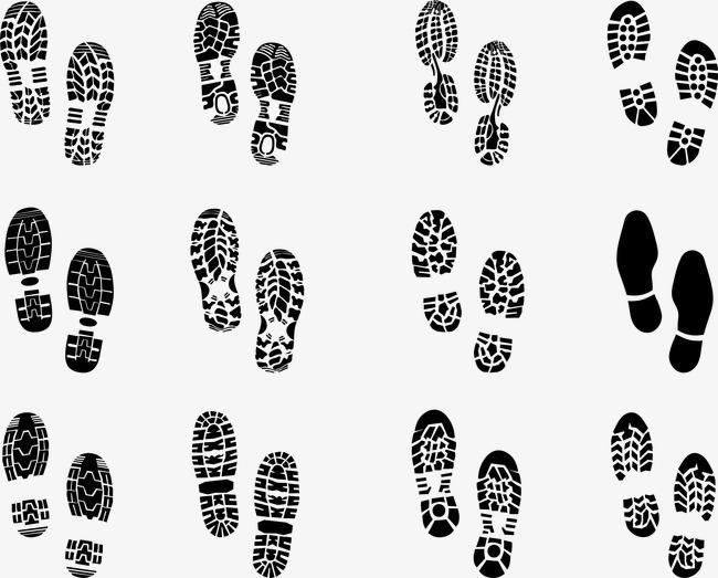huellas de zapatos en vectores gratis