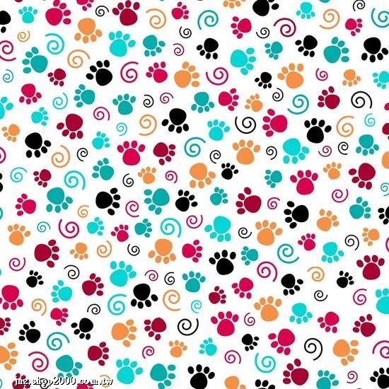 huellas de perro a color