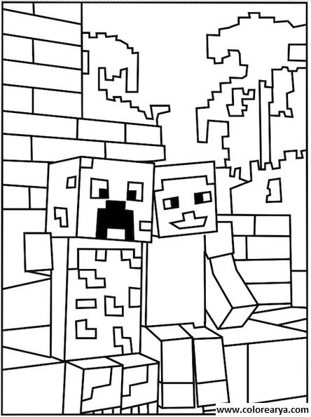 imagenes de minecraft para dibujar creeper