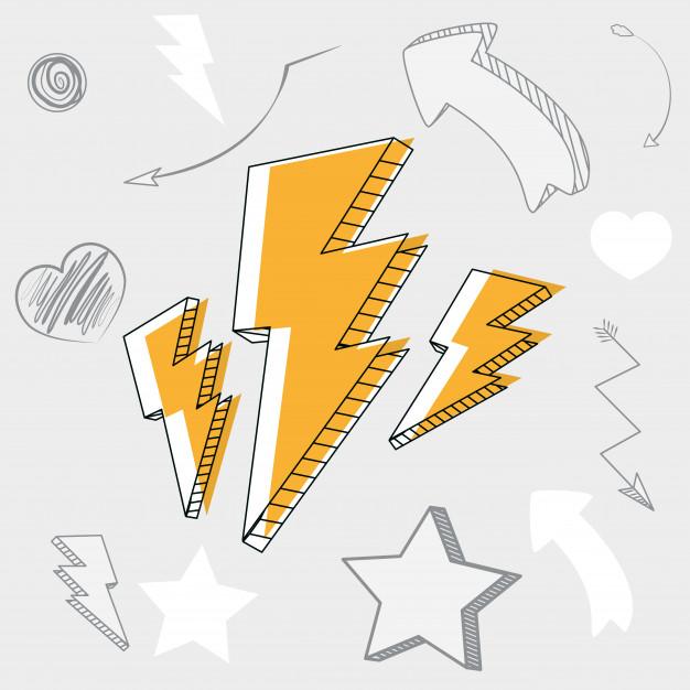 imagenes de rayos electricos animados