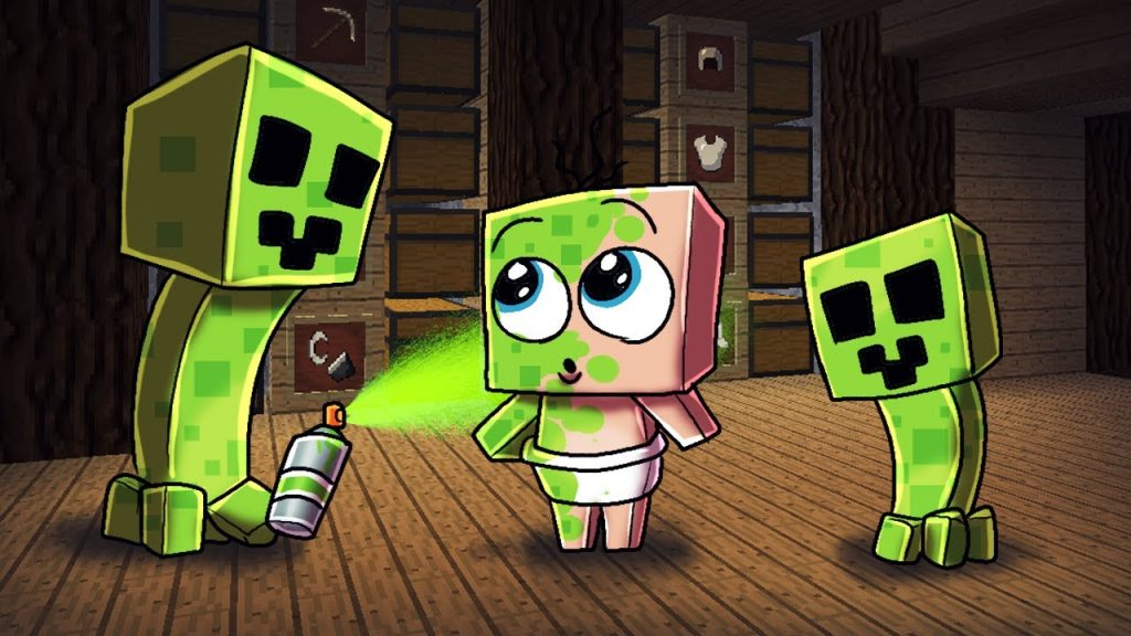 imagenes de minecraft creeper anime