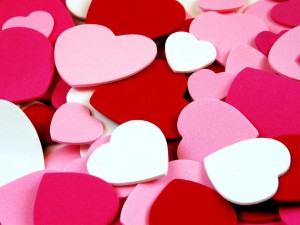 fondos de corazones rojos