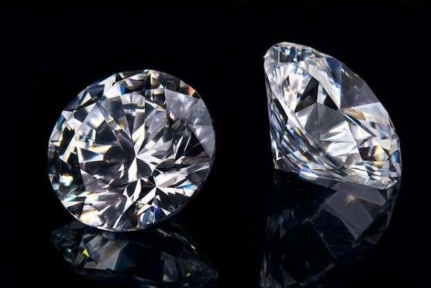 Fondo de diamantes reales