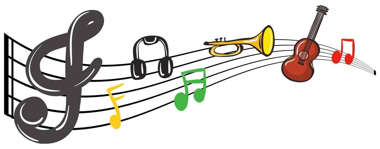 Notas e instrumentos musicales
