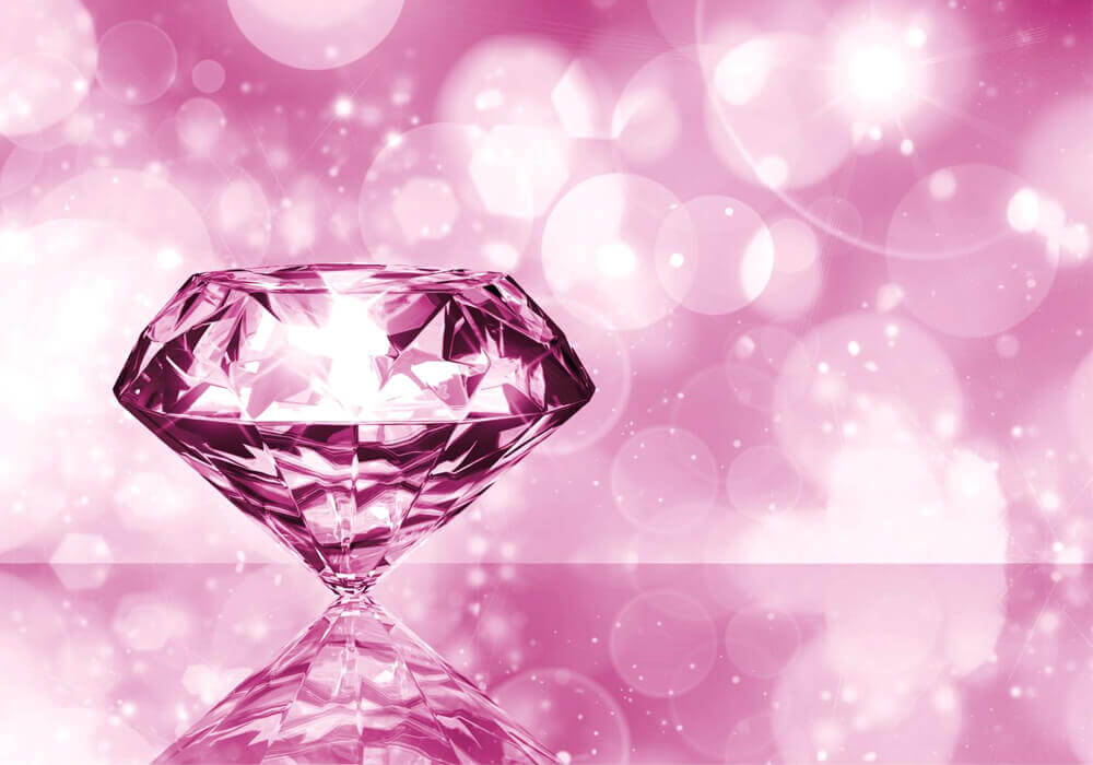 Piedra preciosa diamante rosado